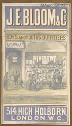 Advert for JE Bloom & Co, boy's & youth's outfitters